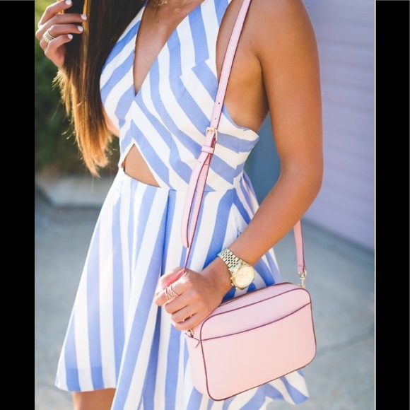 Lovers + Friends Dresses & Skirts - Lovers + Friends Honor Striped Cut-Out Dress